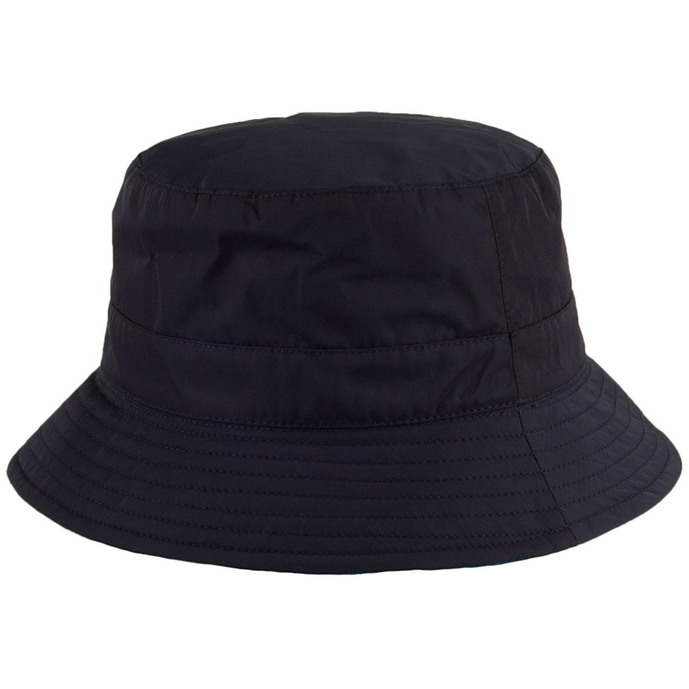 56babd8d69ddb FAILSWORTH Showerproof Reversible Bucket Hat Navy Teal