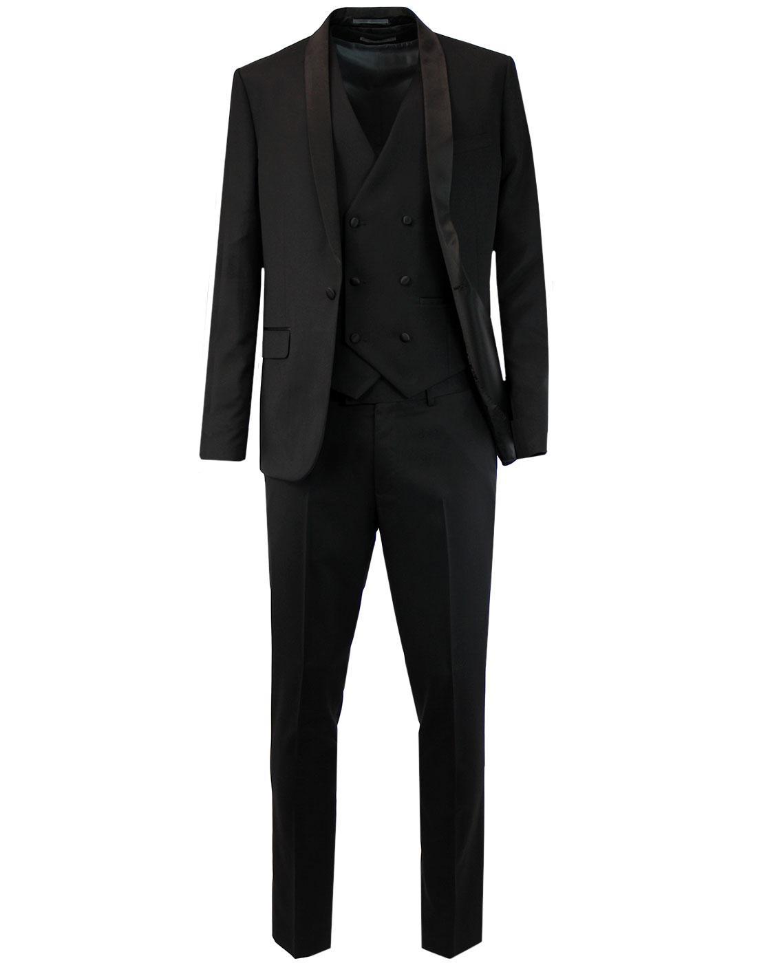 FARAH Retro 1960s Shawl Collar Dinner Suit - Black