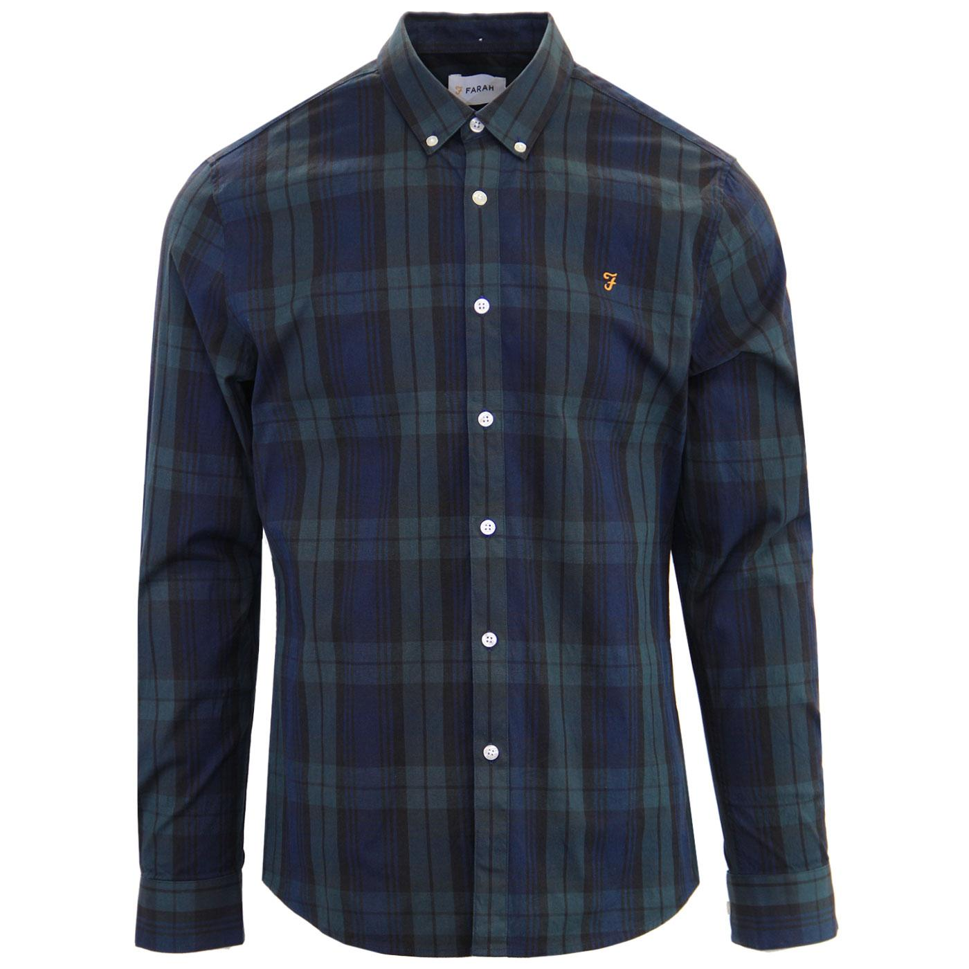 Brewer FARAH Blackwatch Tartan Button Down Shirt