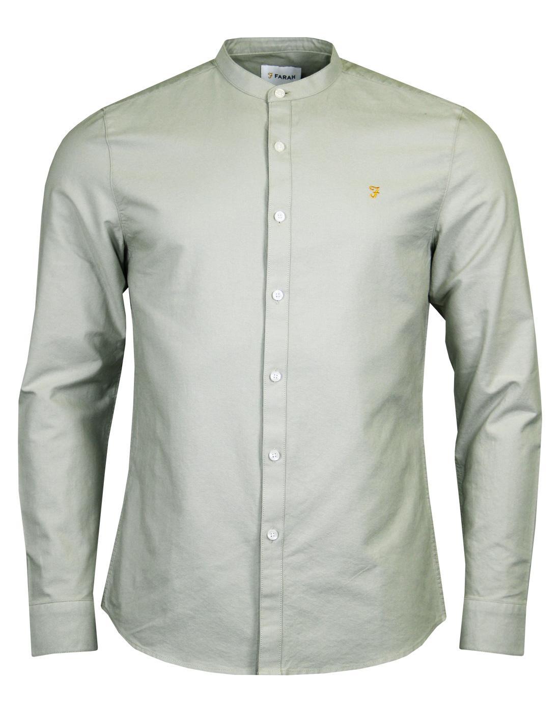 Brewer FARAH Mod Grandad Collar Oxford Shirt BG