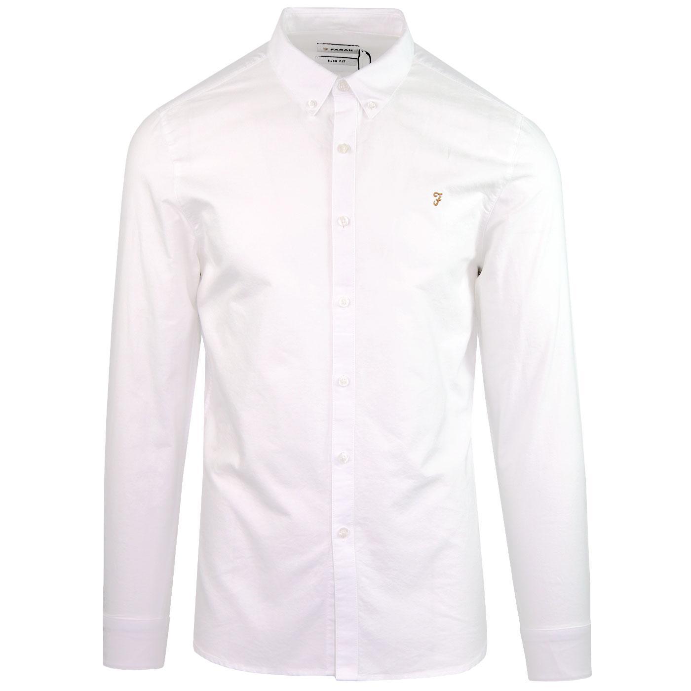 Brewer FARAH VINTAGE Retro 60s Mod Oxford Shirt W