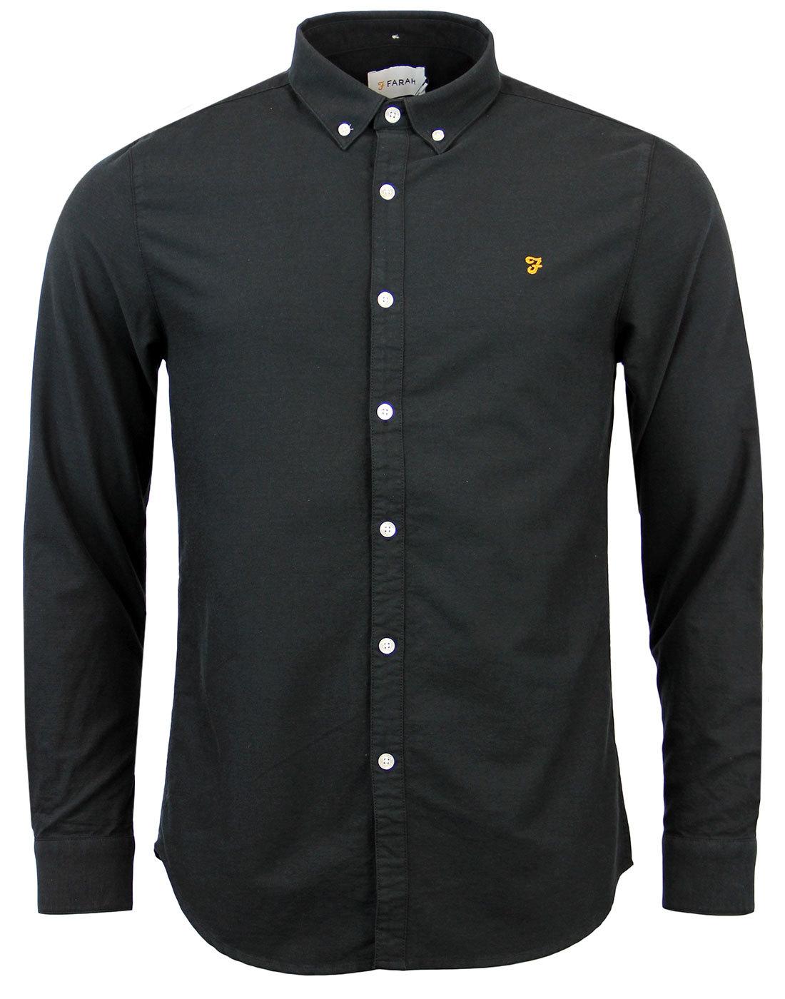 Brewer FARAH VINTAGE Retro Mod Oxford Shirt (B)
