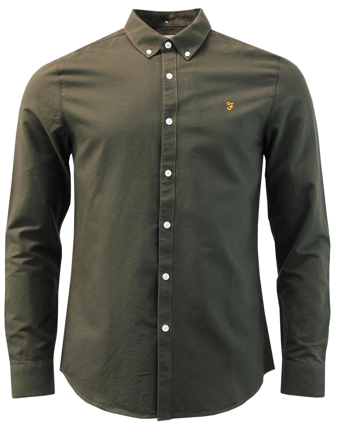 Brewer FARAH Mod Slim Button Down Oxford Shirt EG
