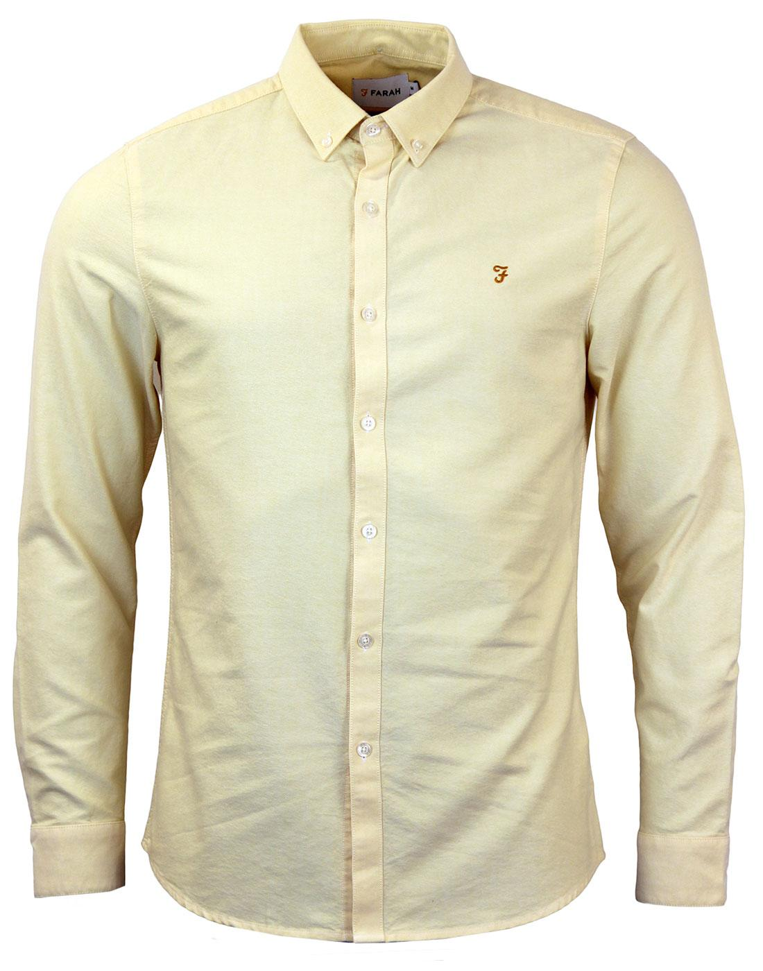 Brewer FARAH Retro Sixties Mod Oxford Shirt S