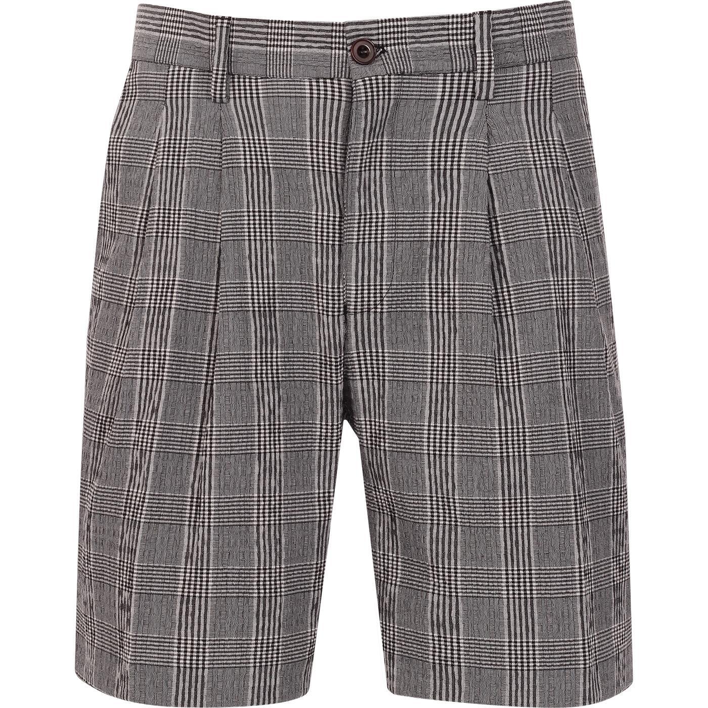 Casey FARAH 100 Retro Seersucker POW Check Shorts