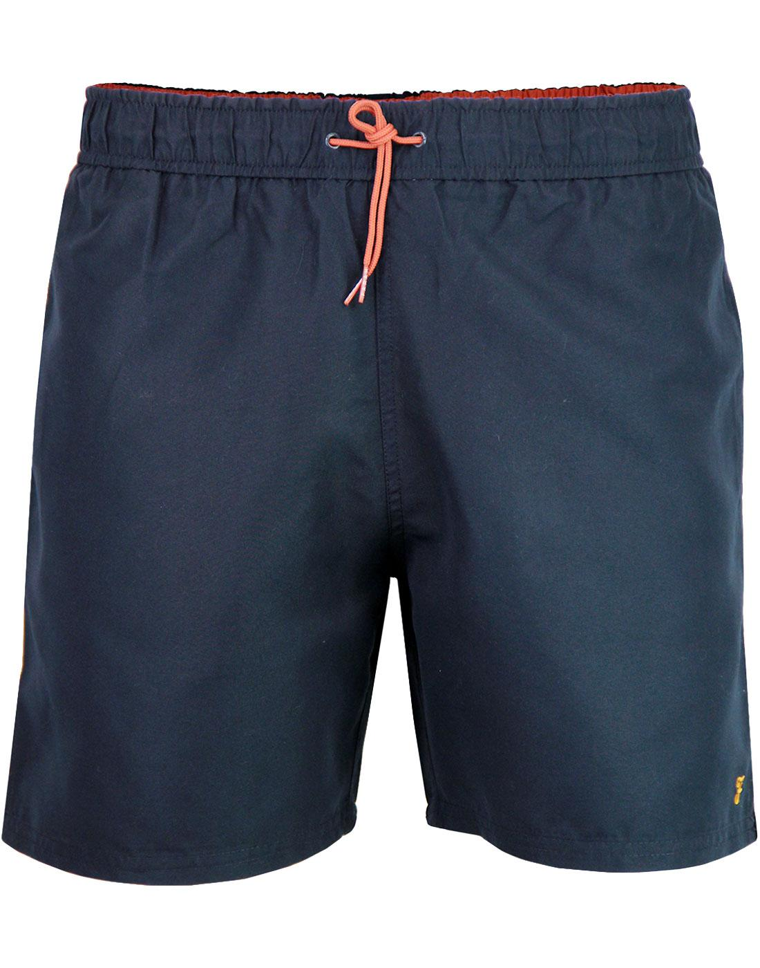 Colbert FARAH Retro Contrast Trim Swim Shorts NAVY