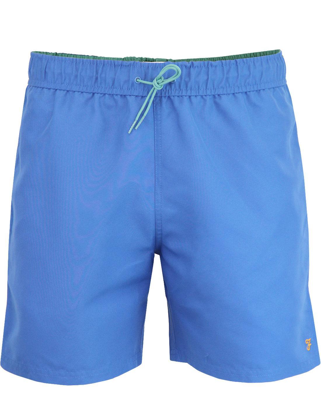 Colbert FARAH Retro Contrast Trim Swim Shorts BLUE