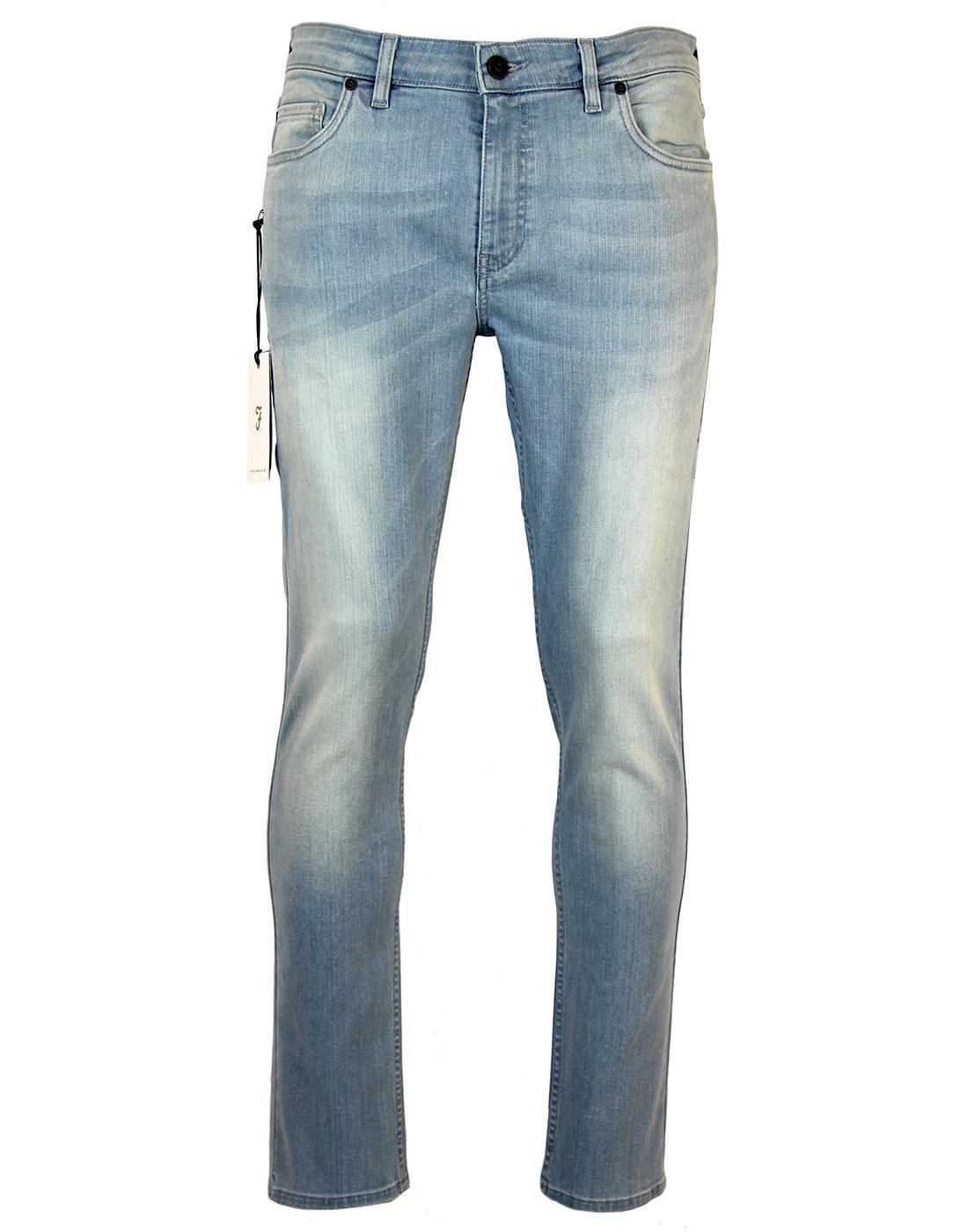 Drake FARAH Retro Mod Drainpipe Denim Jeans