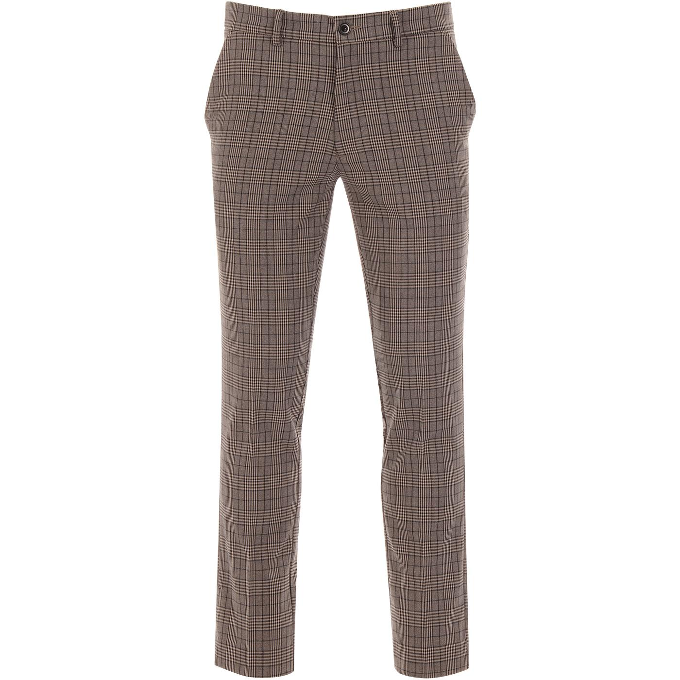 Elm FARAH Men's Retro Slim Leg POW Check Trousers