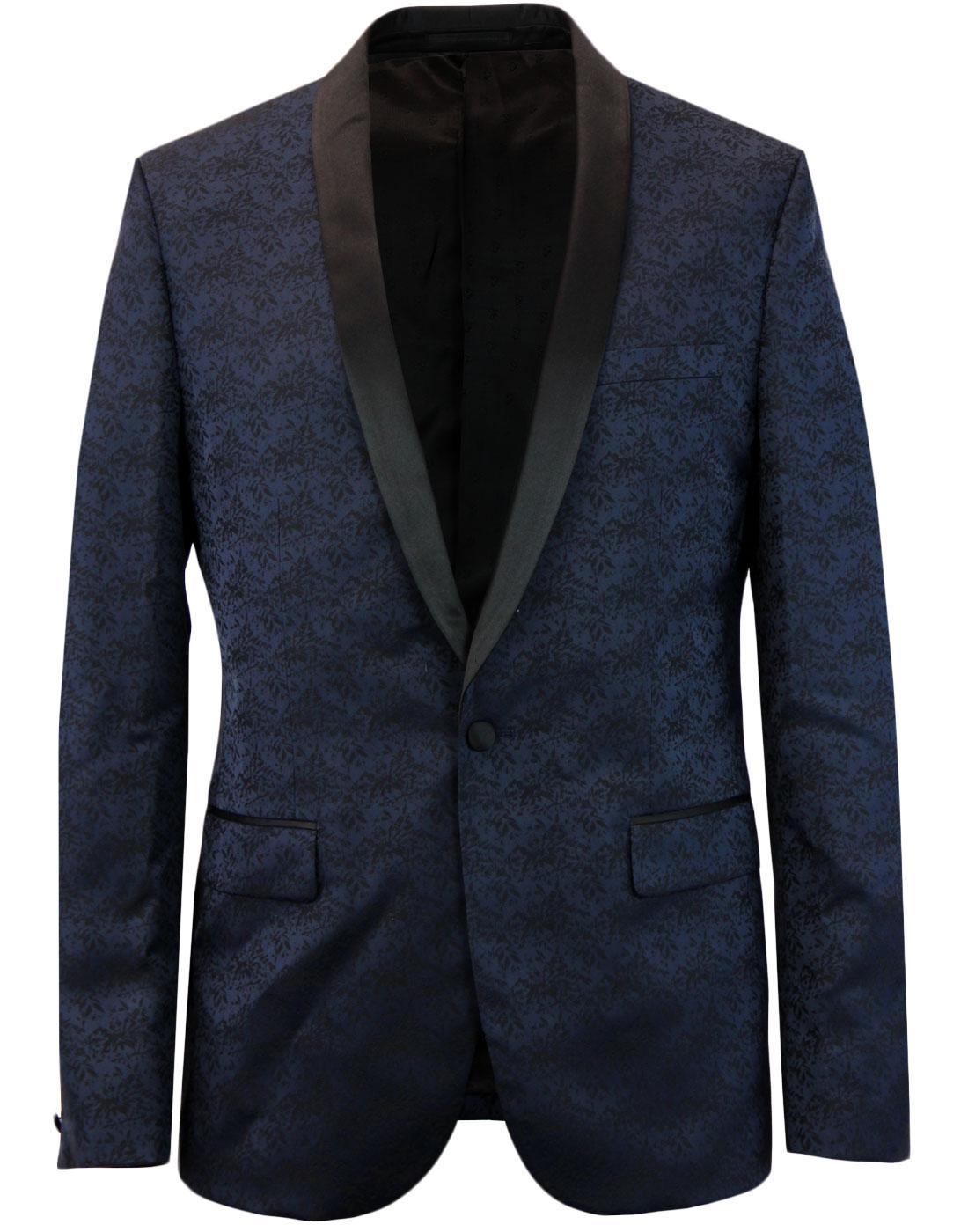 Keeling FARAH 60s Mod Floral Jacquard Suit Jacket