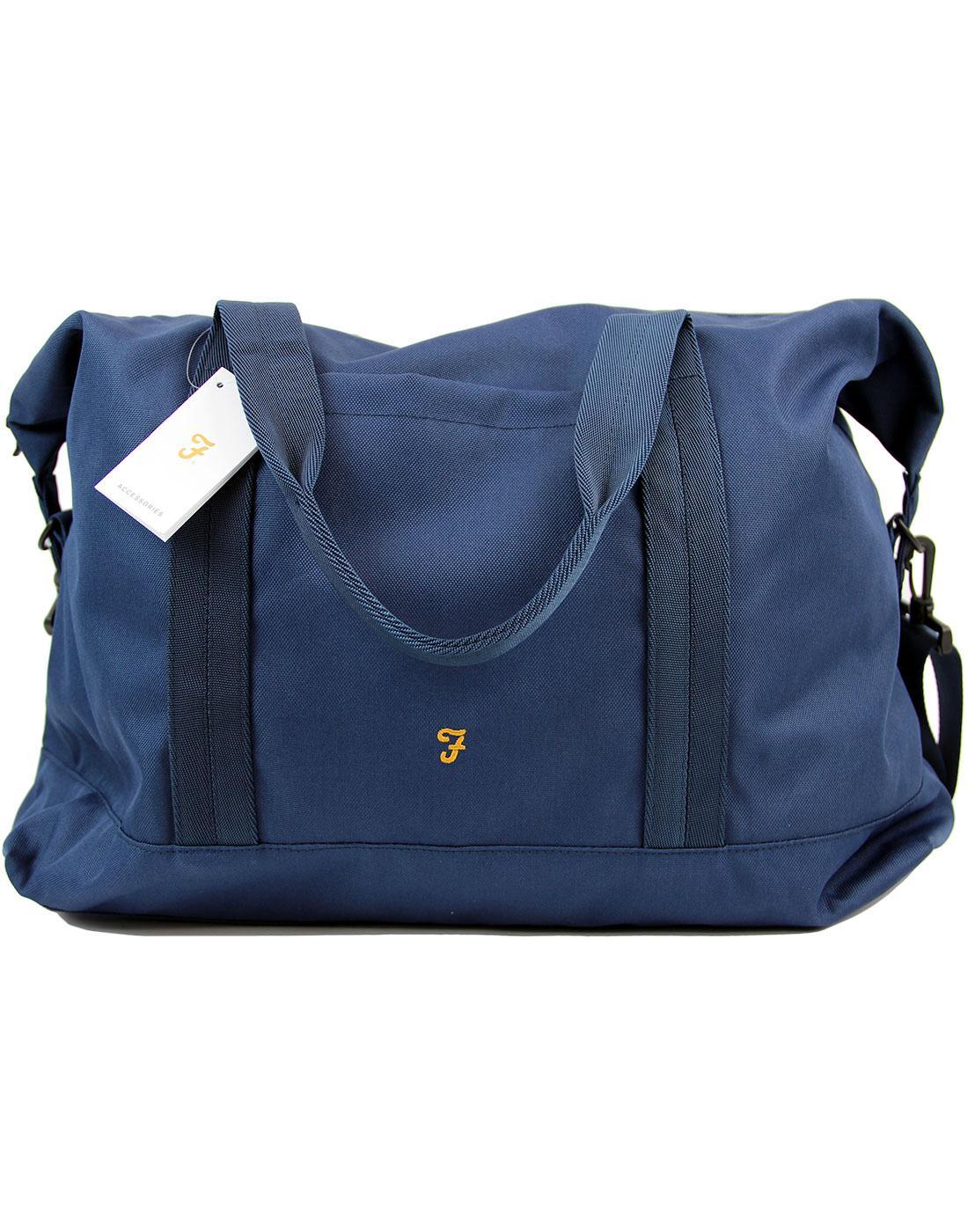 Franks FARAH Retro Military Weekend Bag BLUE