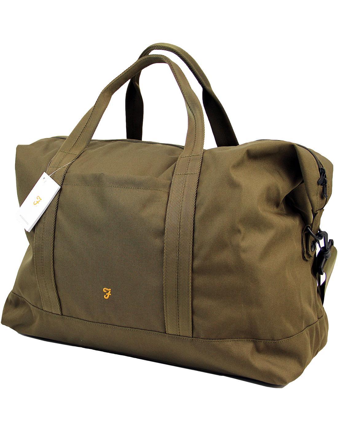 Franks FARAH Retro Military Weekend Bag GREEN