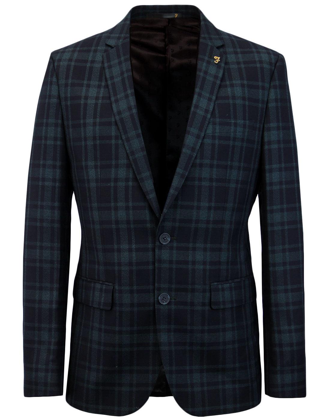 Ashworth FARAH 60s Mod 2 Button Check Suit Jacket