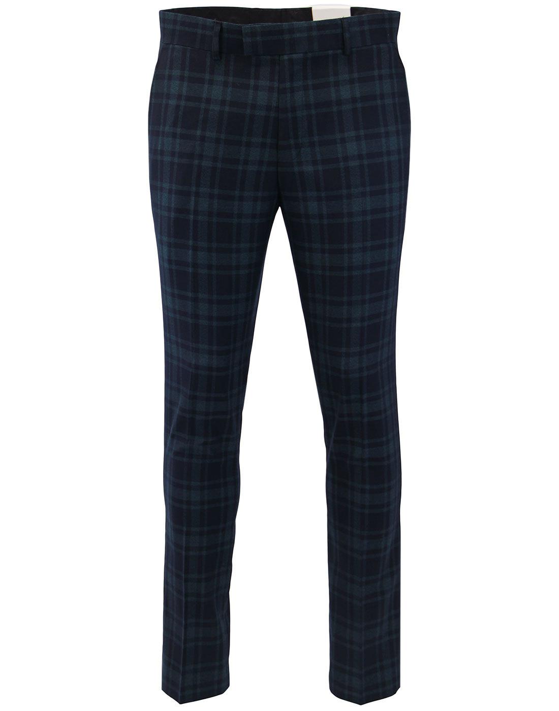 Ashworth FARAH Retro Mod Twill Check Slim Trousers