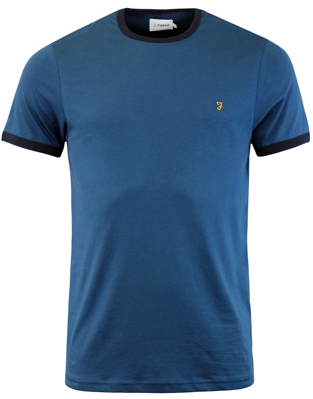 The Groves FARAH Retro Mod Ringer Tee - Atlantic