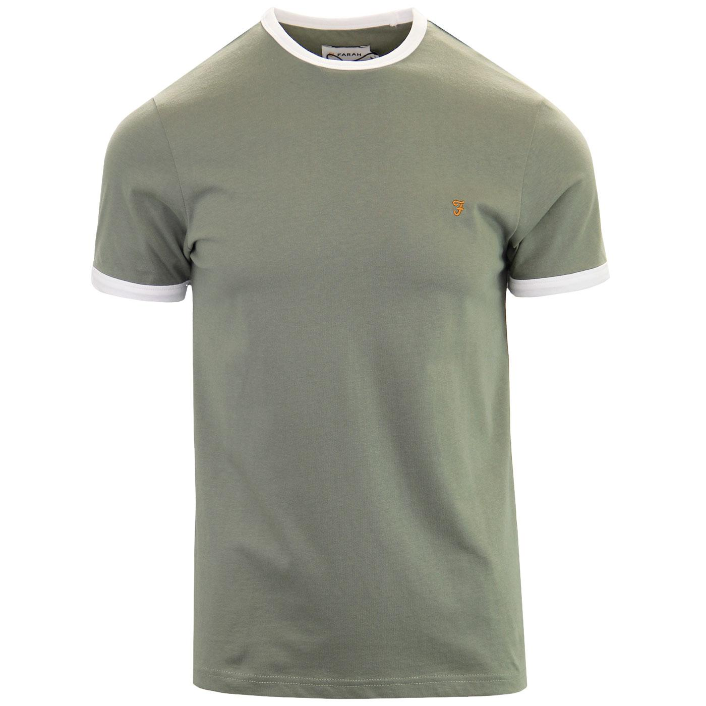 Groves FARAH Retro Mod Ringer Tee (Winter Balsam)