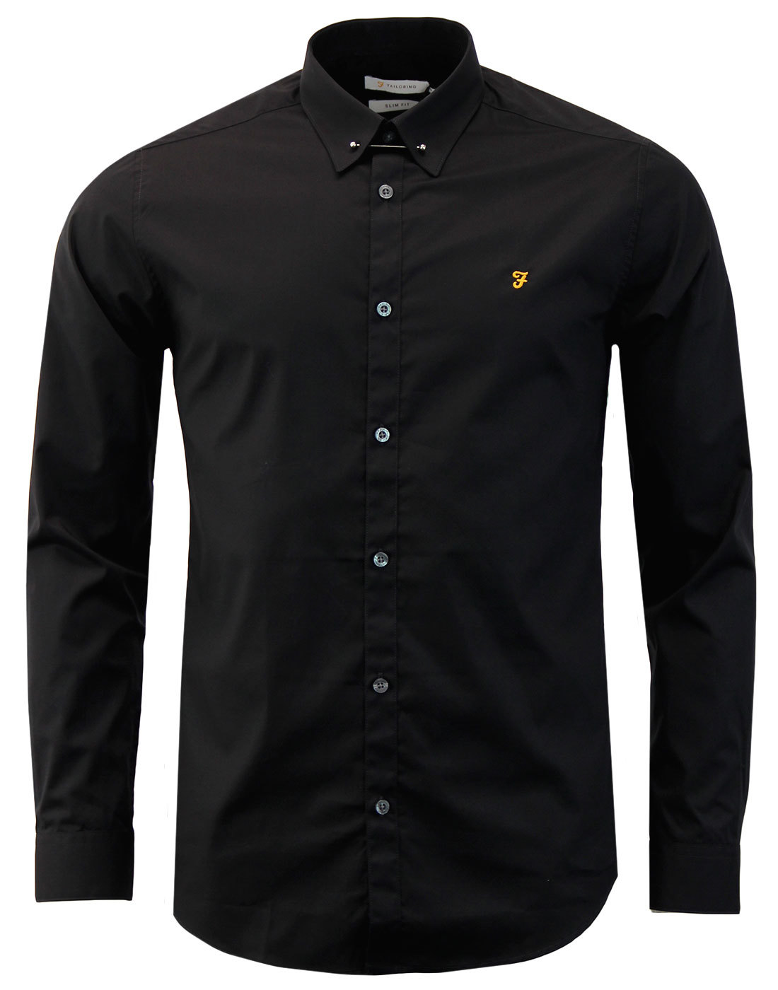 Handford FARAH Mens Mod Bar Collar Smart Shirt (B)