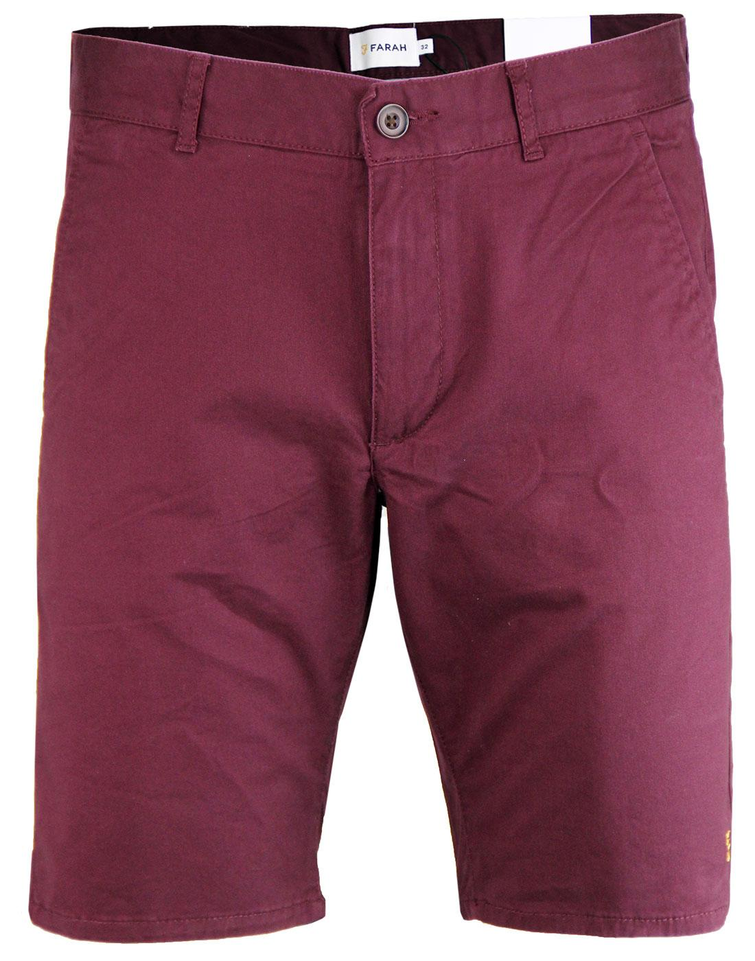 Hawk FARAH Retro Sixties Cotton Twill Chino Shorts