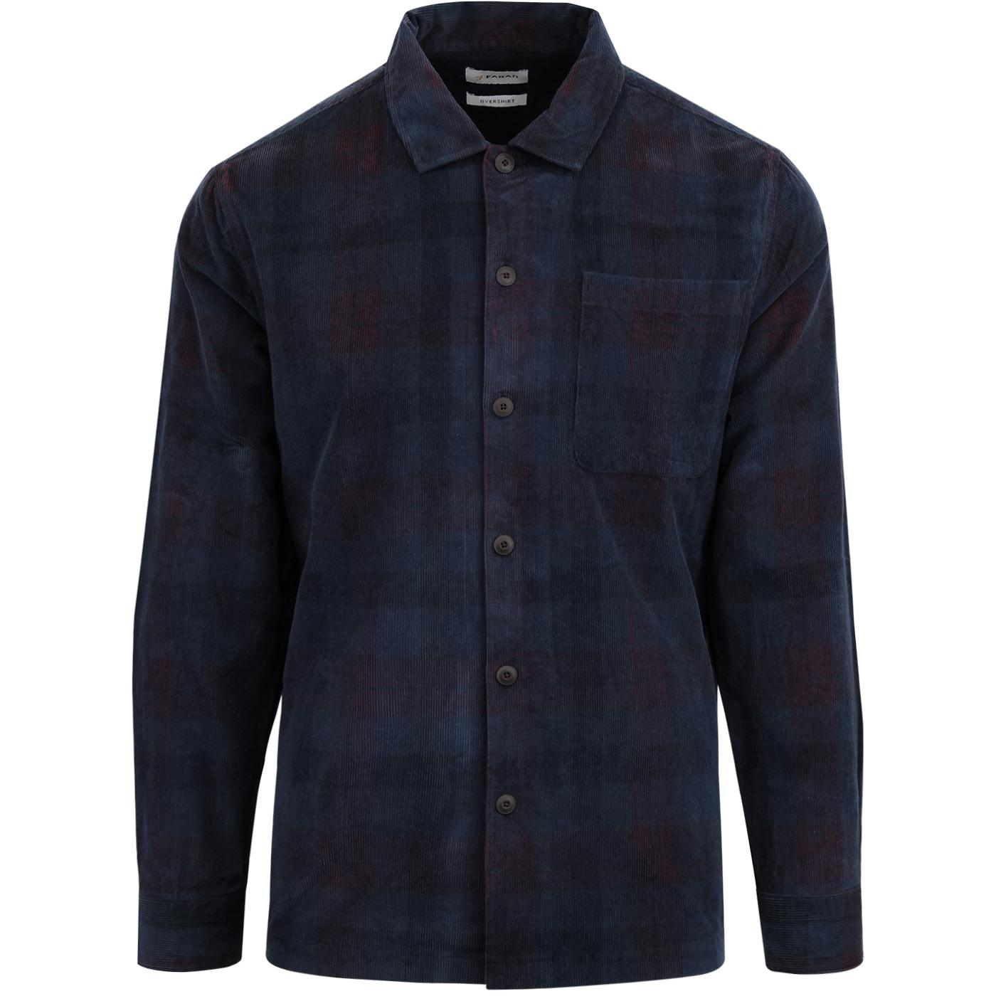 Hemmings FARAH Tartan Check Needle Cord Overshirt