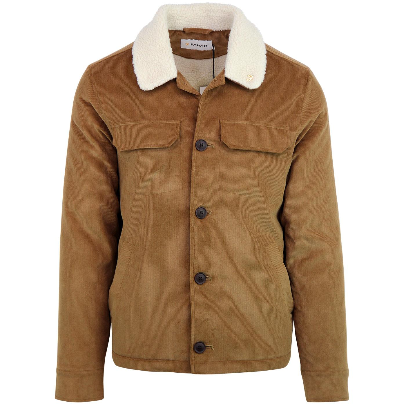 Kingsland FARAH Retro 70s Cord Sherpa Jacket C