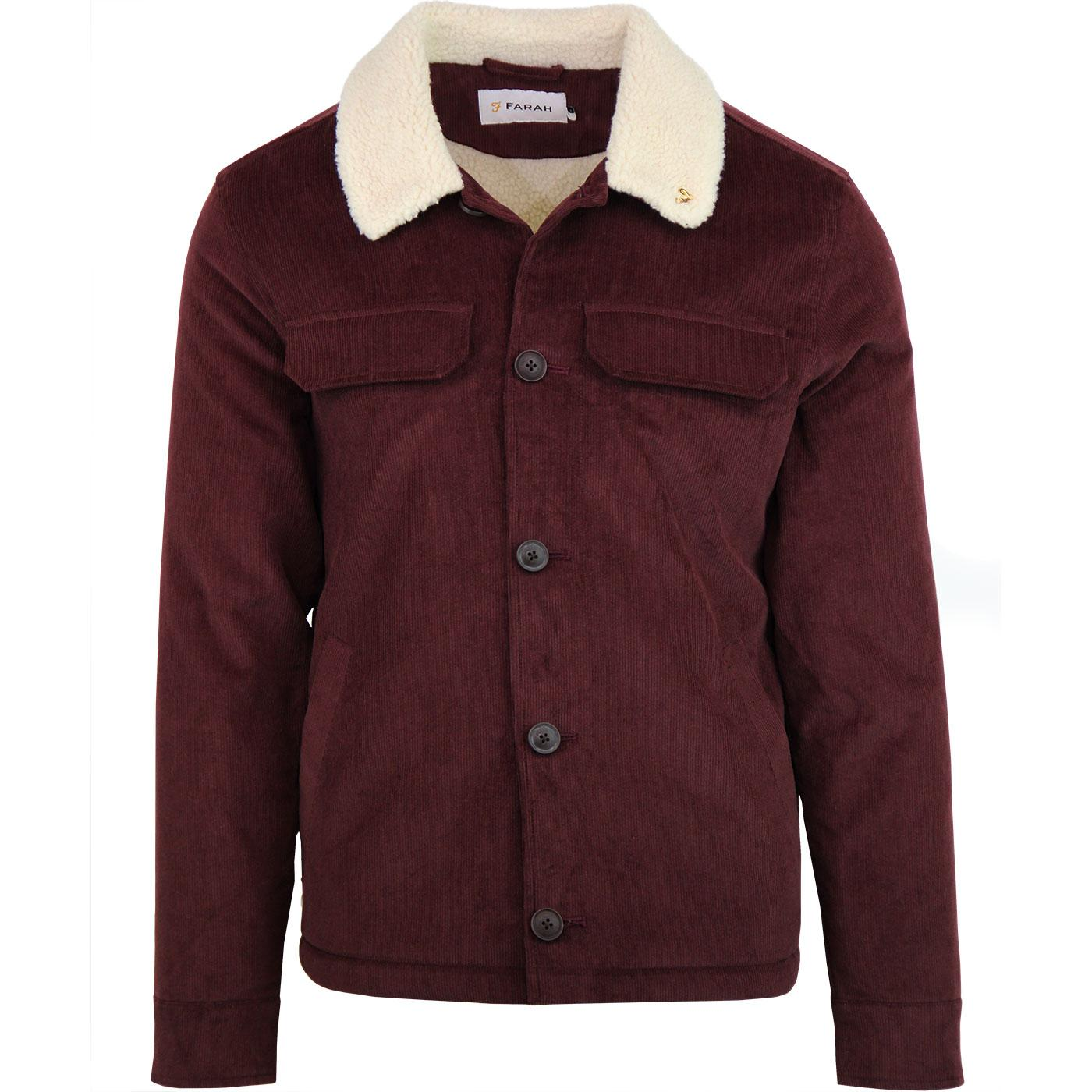 Kingsland FARAH Retro Cord Sherpa Jacket  - Red