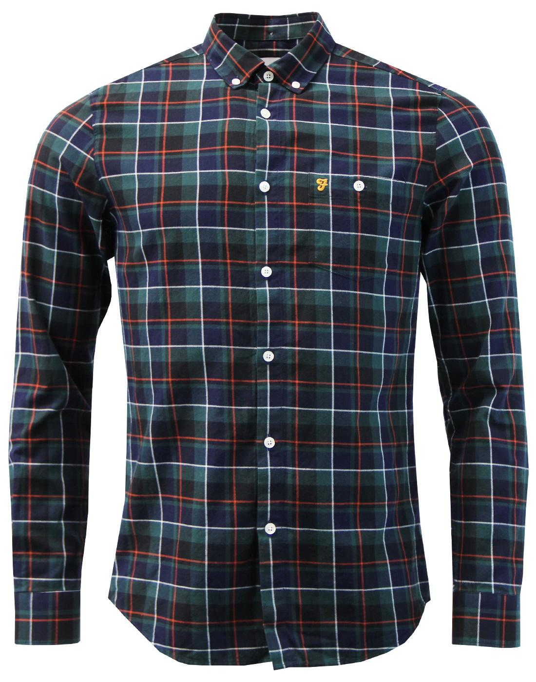 Oldman FARAH 60s Mod Button Down Check Twill Shirt