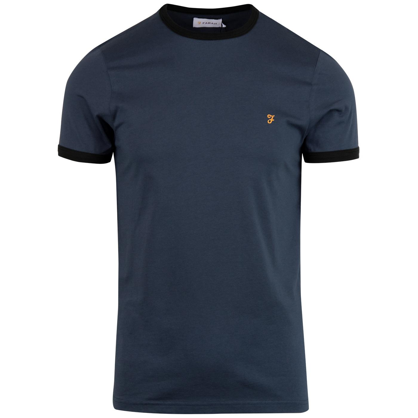 Groves FARAH Retro Mod Ringer T-shirt - Bobby Blue