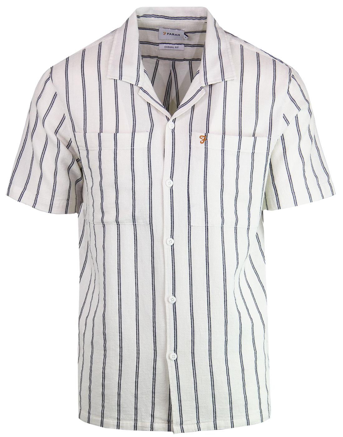 Robbins FARAH Retro Stripe Resort Collar Shirt (E)
