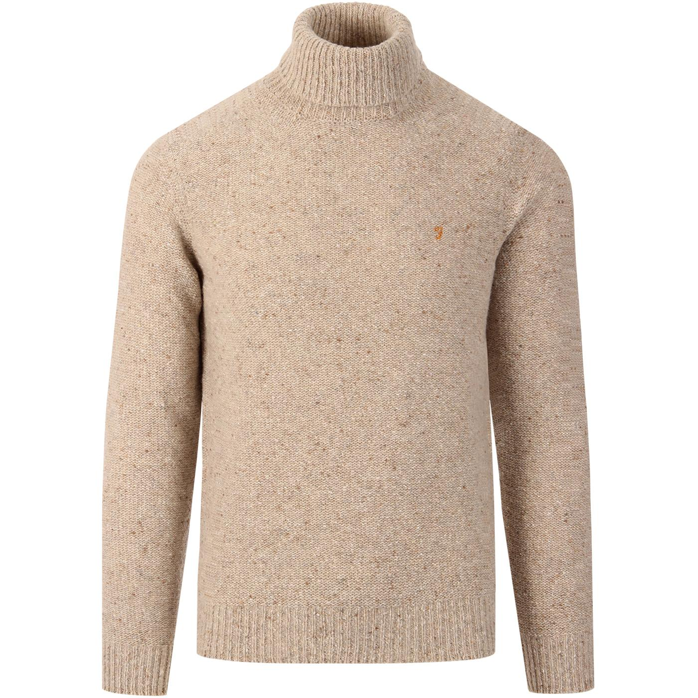 Batton FARAH Retro 60s Chunky Roll Neck Jumper LM