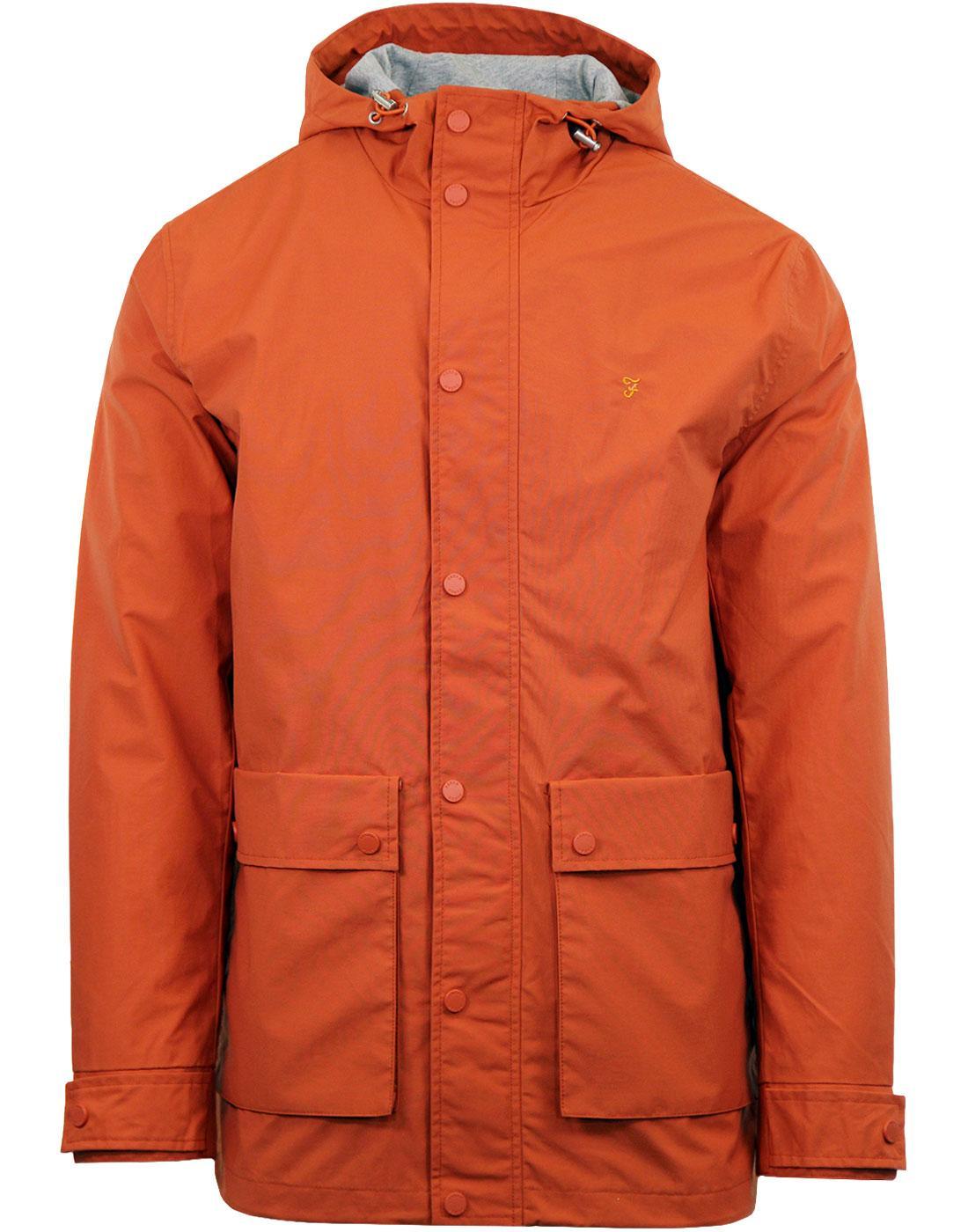 Rourke FARAH Retro 60s Showerproof Hooded Jacket O