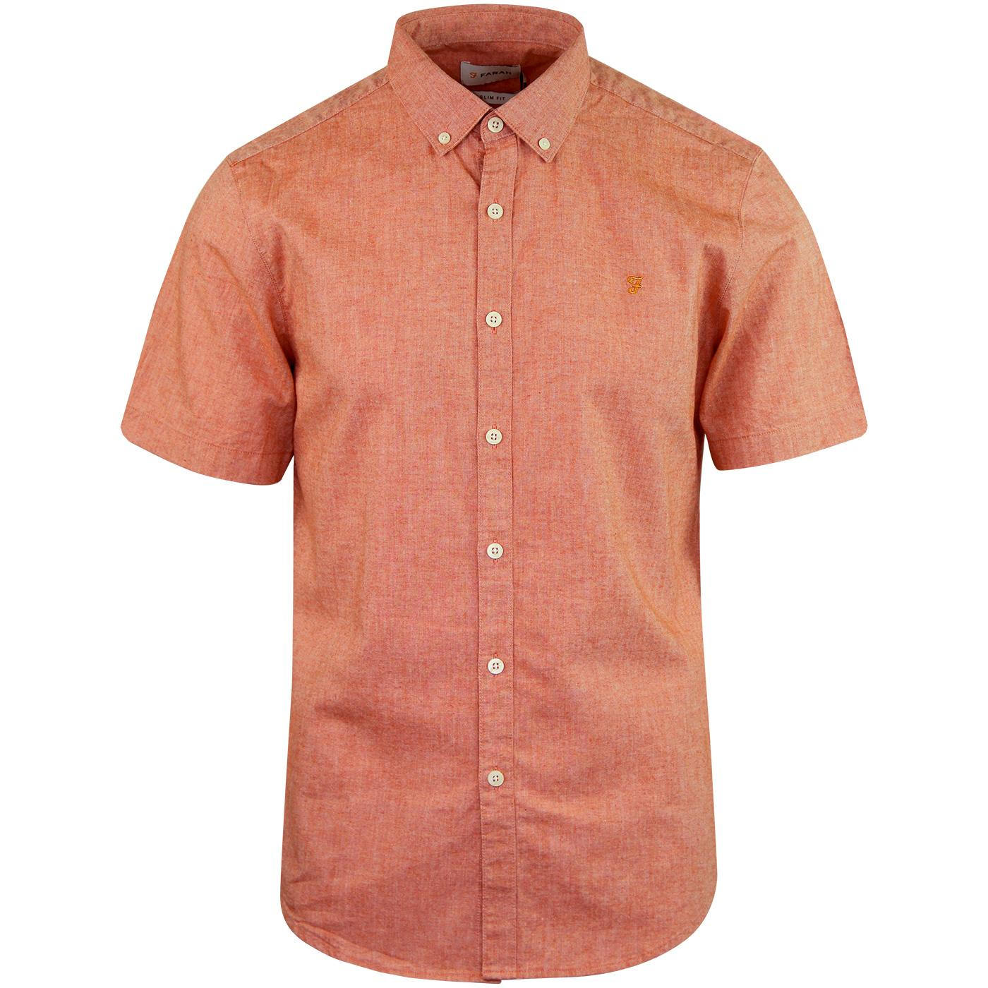 Steen FARAH 60s Mod Short Sleeve Oxford Shirt (G)