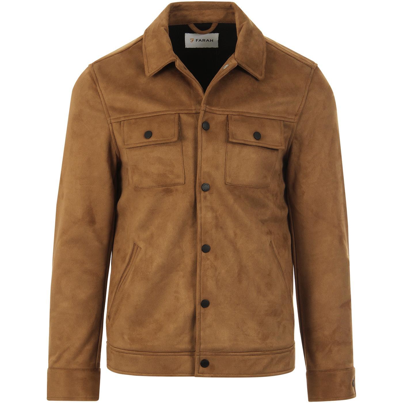 Cleethorpes FARAH VINTAGE Faux Suede Retro Jacket