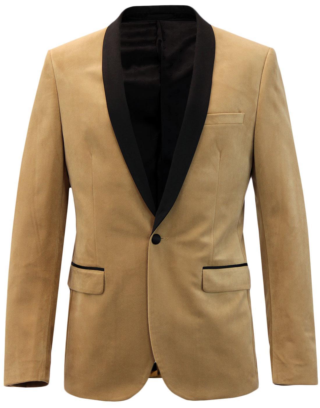 Keeling FARAH Retro 70s Shawl Collar Velvet Blazer