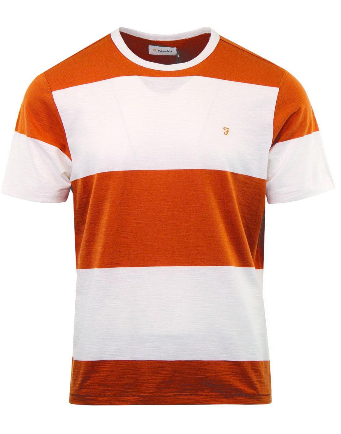 Woolacombe FARAH Retro 60s Block Stripe T-shirt O