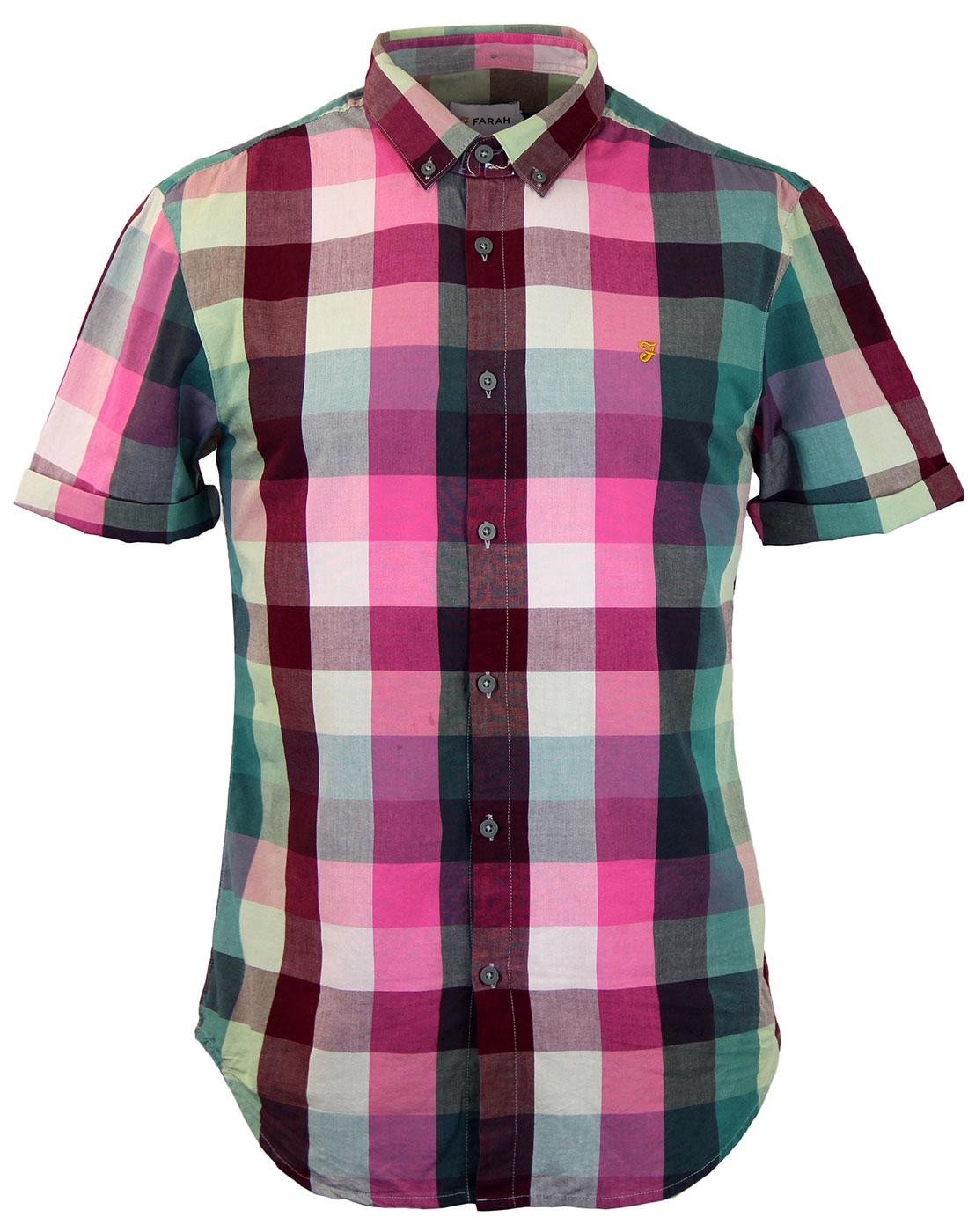 Arogan FARAH Retro Yarn Dyed S/S Mod Check Shirt