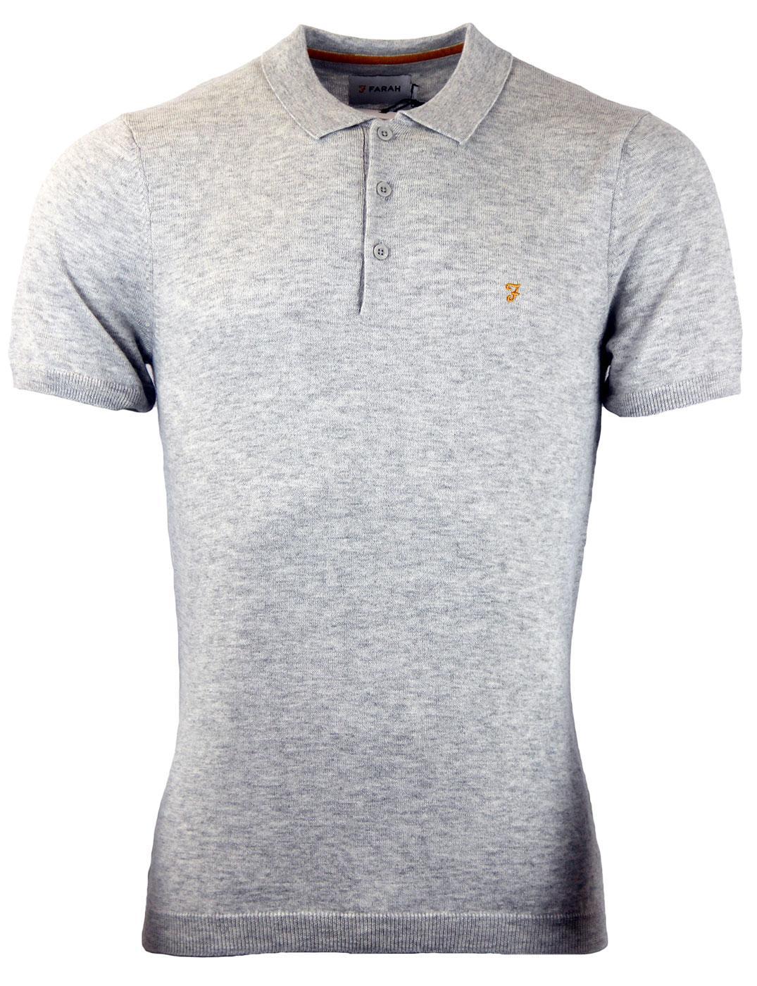 The Affrey FARAH Retro Mod Knitted Polo Shirt (LG)