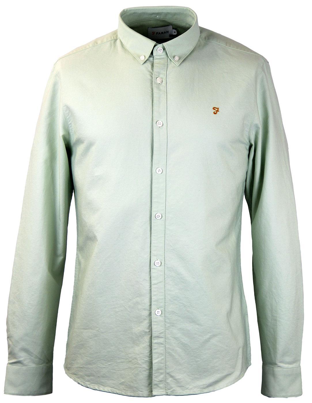 Brewer FARAH VINTAGE Retro 60s Mod Oxford Shirt SF