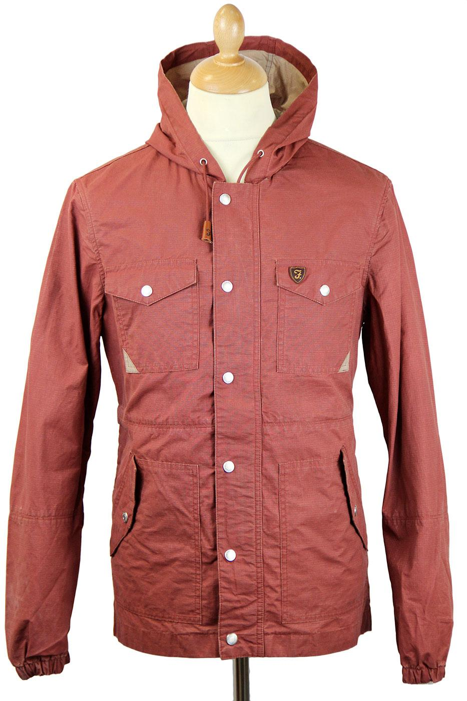 Boughton FARAH VINTAGE Mod 4 Pkt Rip Stop Jacket F