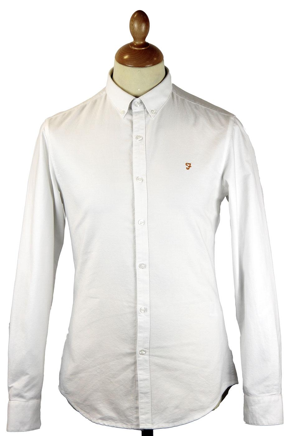 Brewer FARAH VINTAGE Retro 60s Mod Oxford Shirt W