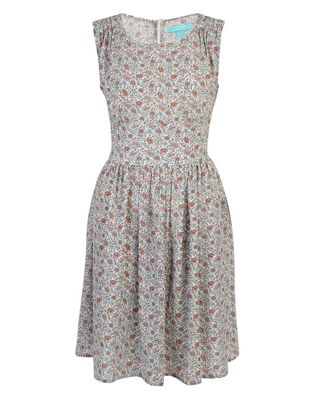 Frederica FEVER Retro 50s Crepe Ditsy Floral Dress
