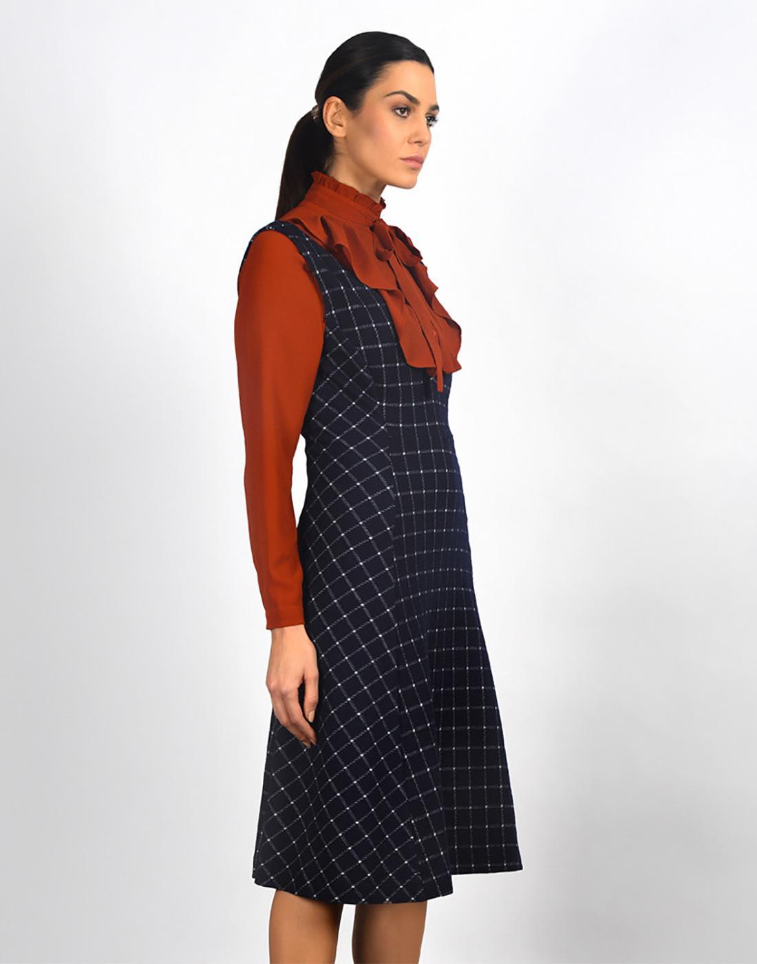 Highlands FEVER Vintage Deep V Pinafore Dress