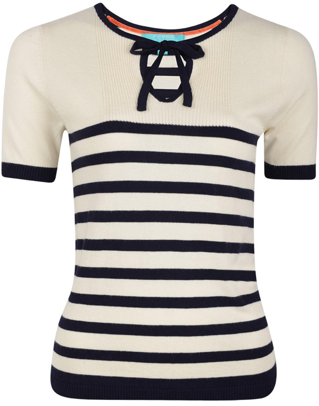 Hartland FEVER Retro Vintage Striped Knit Jumper