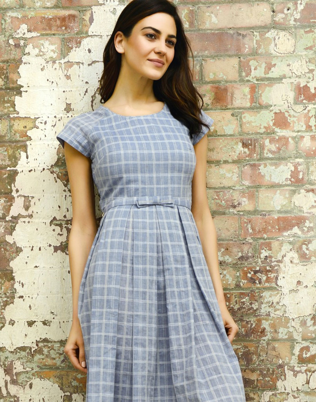 Mary FEVER Retro 1950s Vintage Check Prom Dress