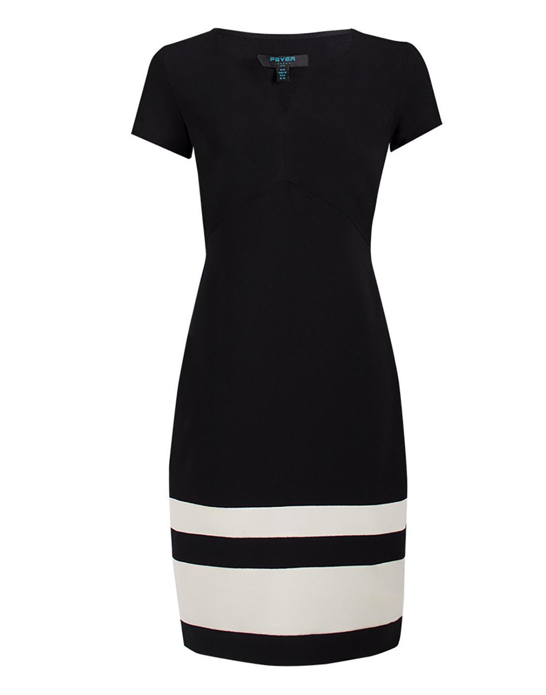 Winona FEVER Retro 60s Mod Pencil Dress in Black