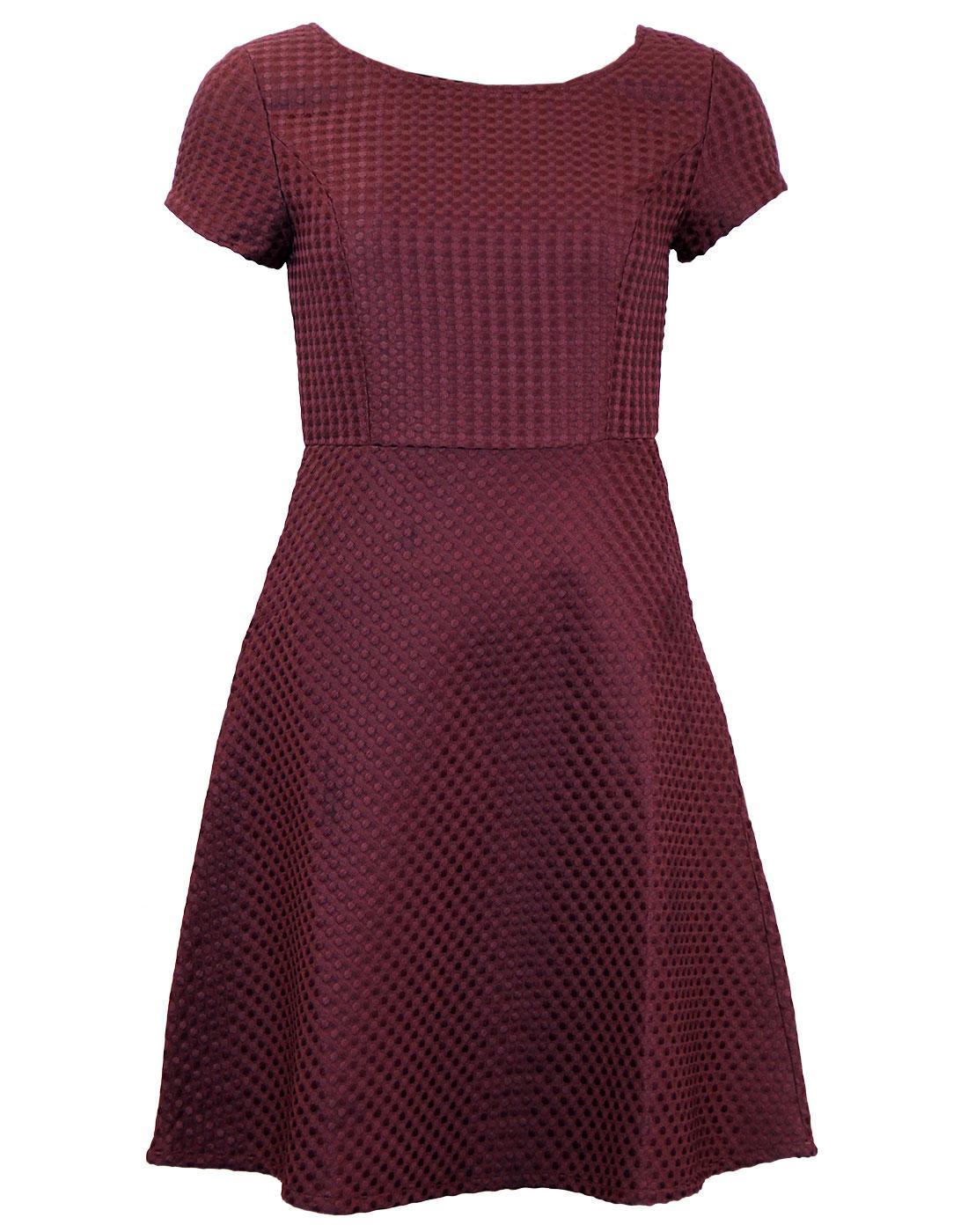 Yosu FEVER Retro 1950s Textured Spot Prom Dress