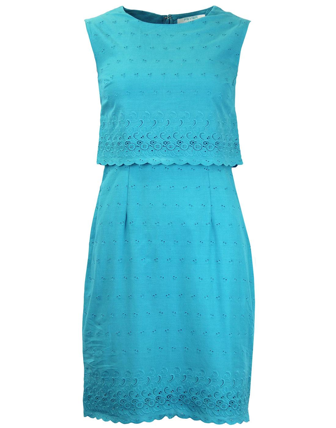 Pacific FEVER 60s Mod Double Layered Shift Dress