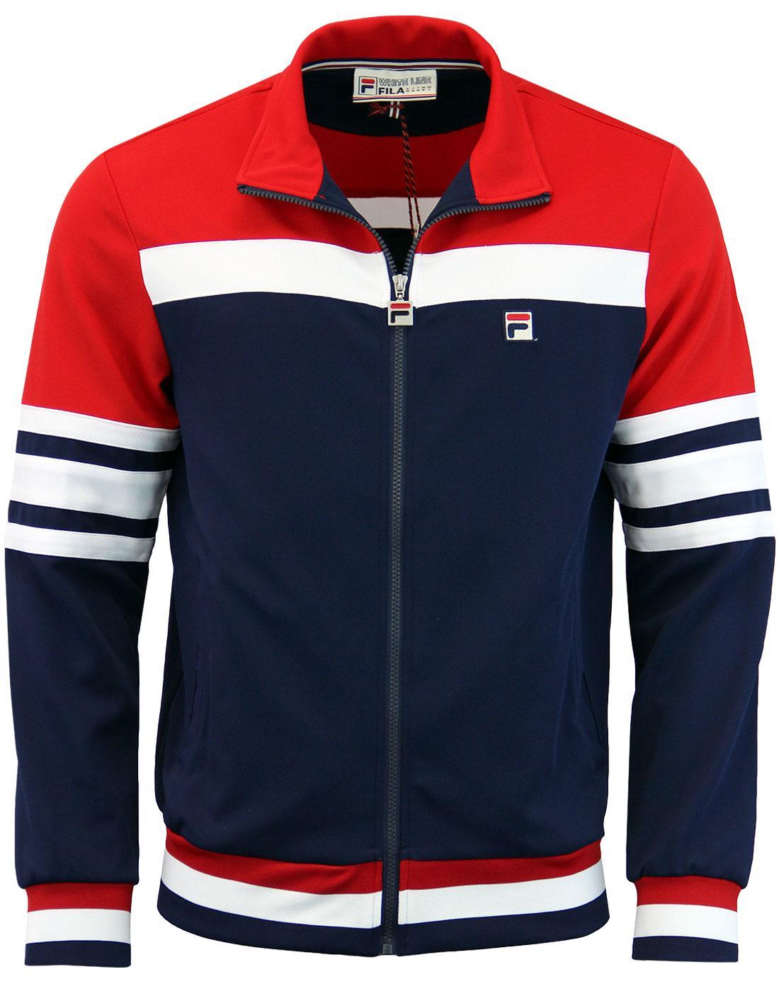 Courto FILA VINTAGE Retro 80s Stripe Track Jacket