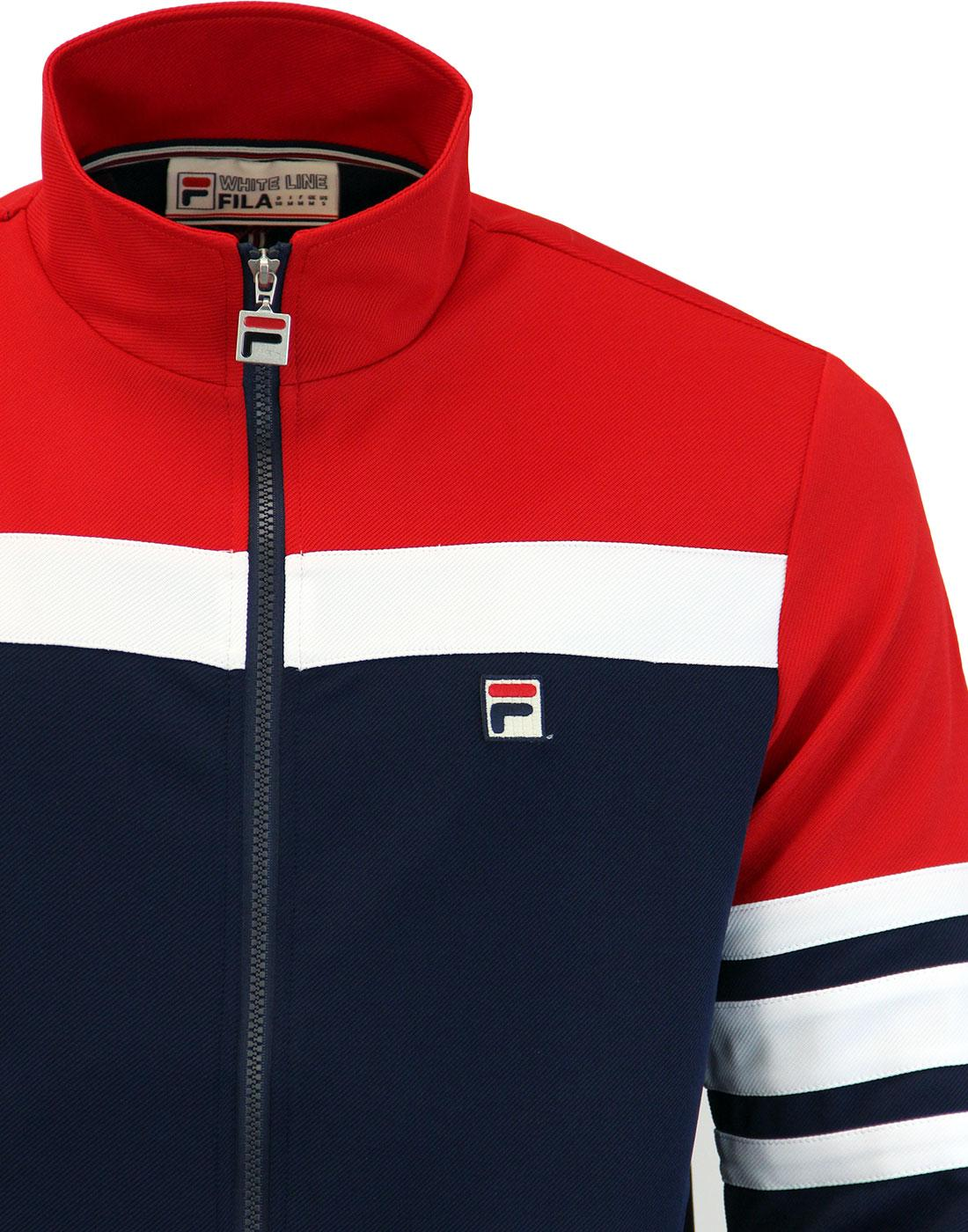 4d24560e7a19 FILA VINTAGE Courto men s Retro 80s Stripe Track Jacket Peacoat