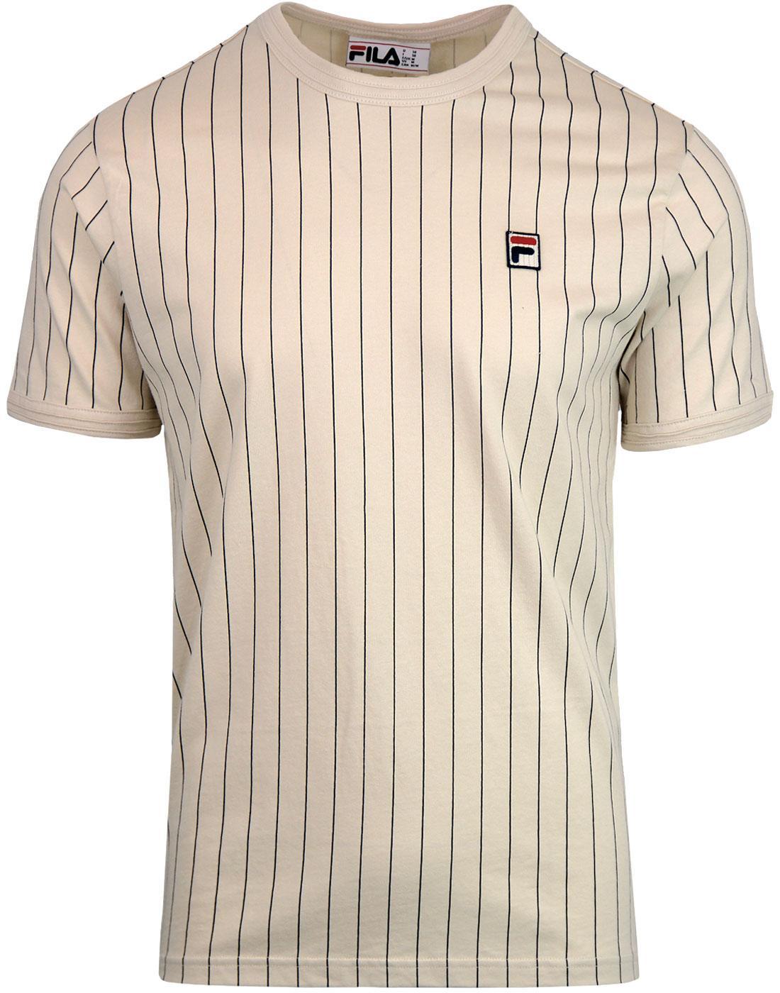 Guilo FILA VINTAGE Retro 1970's Pinstripe Tee (T)