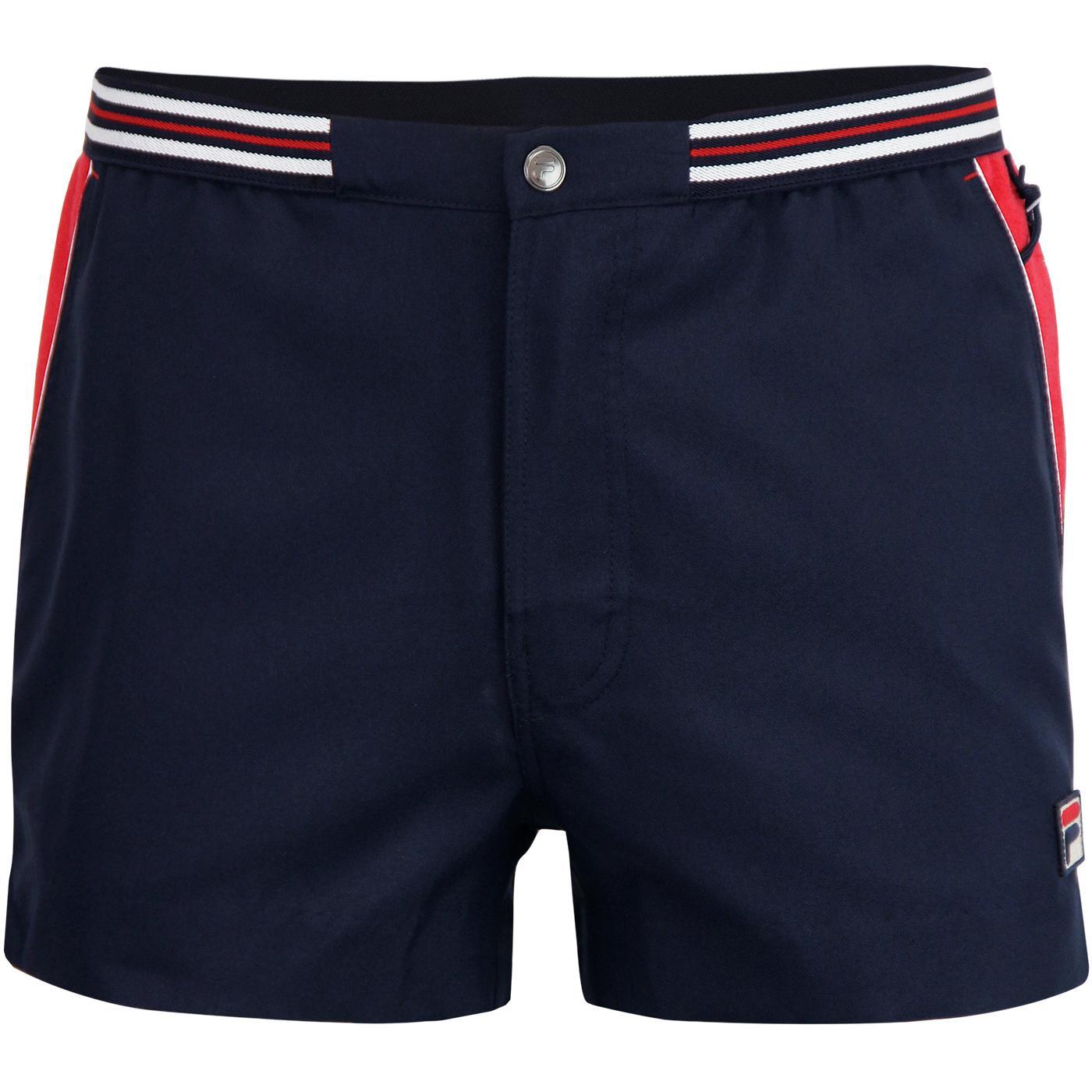Hightide 4 FILA VINTAGE Mens 70s Tennis Shorts P/C